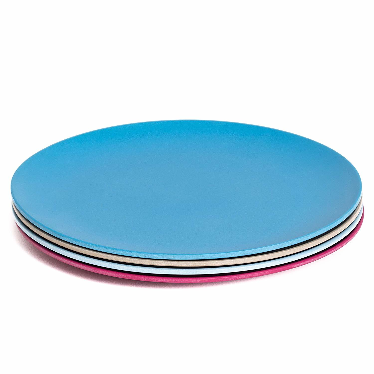 cff Bamboo Baby Plate Toddler Bowls and Plates Childrens Plates Car Design Eco Friendly BPA Free
